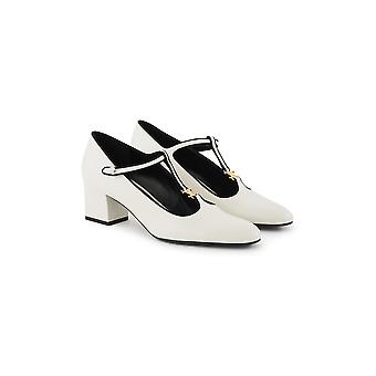 Céline 333893352c01wb Women's White Leather Pumps