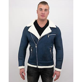 Faux manteau de fourrure-Lammy Coat-Navy