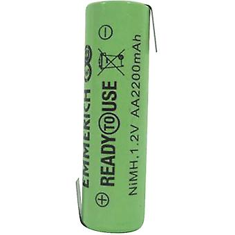 Emmerich 255065 NiMH AA 1.2V 2200mAh ZLF Ready To Use Rechargeable Battery
