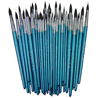 Major Brushes Imitation Squirrel Brushes Assorted Pack of 60