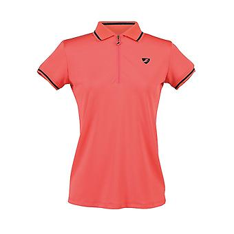 Shires Aubrion Parsons Womens Tech Polo Shirt - Coral