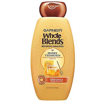 Garnier whole blends repairing shampoo, honey treasures, 12.5 oz