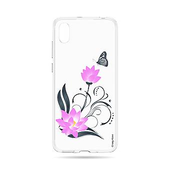 Skrov för Huawei Y5 2019 Flexibel lotusblomma och fjäril