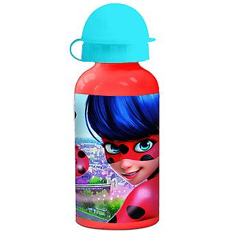 MIRACOLOUS Children's aluminum water bottle red 400 ml
