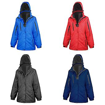 Result Womens/Ladies 3 In 1 Softshell Journey Jacket With Hood