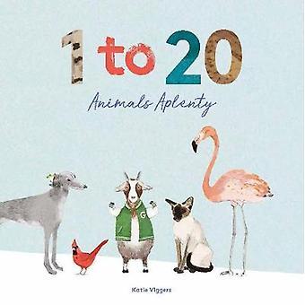 1 to 20 Animals Aplenty by Katie Viggers - 9781786275660 Book