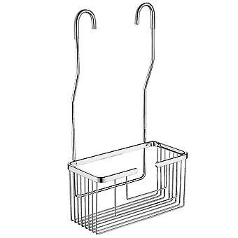 Storage hanging basket, multifunctional storage basket, stainless steel double hook removable hanging basket, kitchen living room