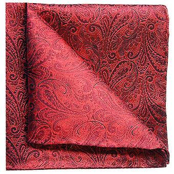 Tyler e Tyler Paisley Pocket Square - vermelho