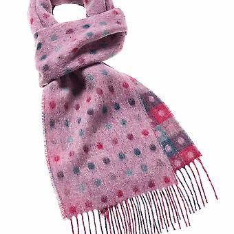 wool scarf multispot pink