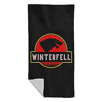 Stark Winterfell Jurassic Park Game Of Thrones Beach Towel