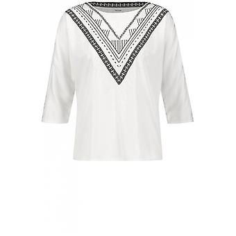 Taifun Embroidered Detailed Blouse