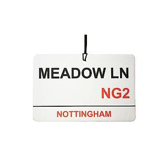 Nottingham / Meadow Lane Street Sign deodorante per auto
