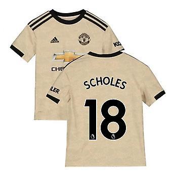 2019-2020 مان يونايتد أديداس بعيدا قميص كرة القدم (الأطفال) (سكولز 18)