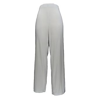 Serengeti Women's Plus Pants Liquid Knit Straight Leg White PTC