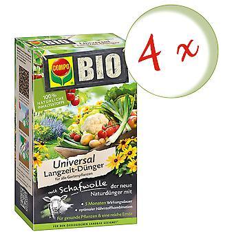 Sparset: 4 x COMPO BIO Universal Langzeit-Dünger mit Schafwolle, 4 kg
