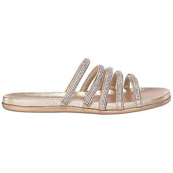 Kenneth Cole Reaction Womens 7 Slim Shimmer Open Toe Casual Slide Sandals