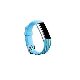 Replacement Wristband Bracelet Strap Wrist Band for Fitbit Alta Classic Buckle [Light Blue] BUY 2 GET 1 FREE
