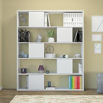 Libreria Sam Color Bianco in Truciolare Melaminico 150x29x180 cm