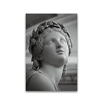 امرأة جميلة وجه النحت ملصق -صورة من قبل Shutterstock