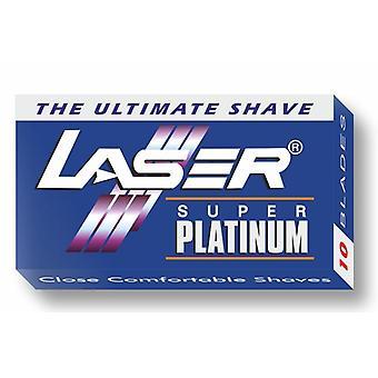 10x Laser Super Platinum Double Edge Razor Blades