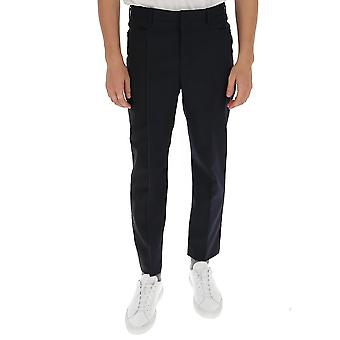 Neil Barrett Pbpa807ap030c818 Men's Blue Cotton Pants