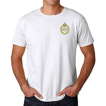 Les baies de Queens brodé Logo - armée britannique officiel coton T Shirt