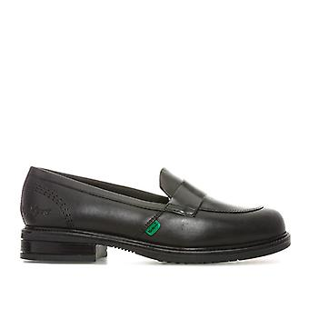 Women's Kickers Lach Loafer Shoes in Black