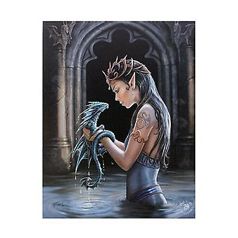 Anne Stokes Water Dragon Canvas Plaque