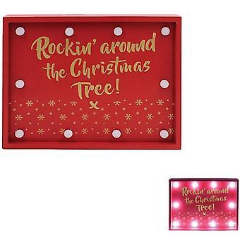 Rockin autour de l'arbre de Noel LED Lumières Signe