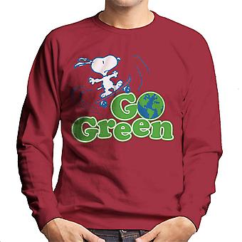 Peanuts Snoopy Go Green Men's Sweatshirt