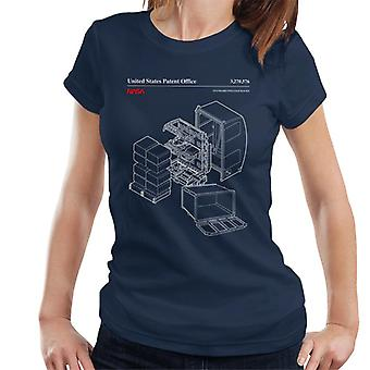 NASA Standard Payload Racks Blueprint Women's T-Shirt