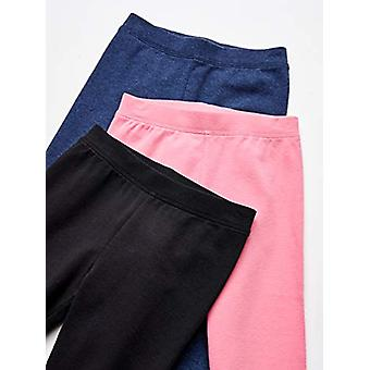 Essentials Girls' 3-Pack Leggings, beleza negra/rosa/Marinha Heather L ...