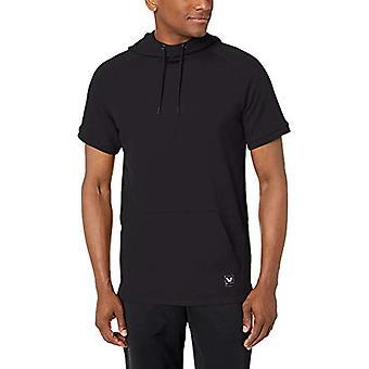 Peak Velocity Men's Francês Terry Short Sleeve Athletic-fit Hoodie, preto, Med...
