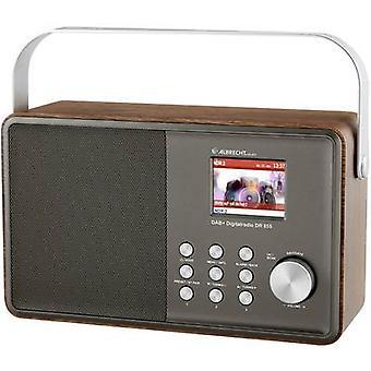 Albrecht DR 855 DAB+/UKW/Bluetooth Desk radyo DAB+, FM DAB+, FM Silver, Ahşap