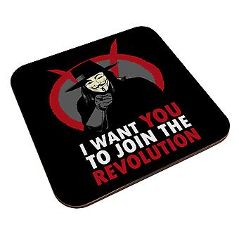I Want You To Join The Revolution V For Vendetta Coaster