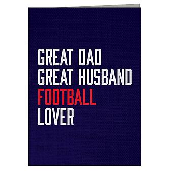 Great Dad Great Husband Football Lover Greeting Card