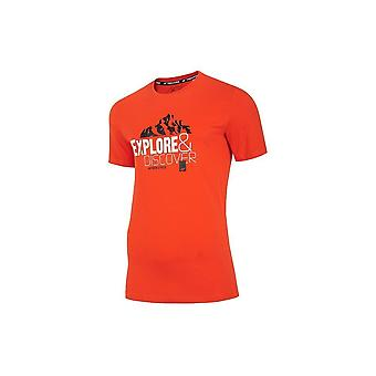 4F TSM062 H4L20TSM062POMARACZ universeel het hele jaar mannen t-shirt
