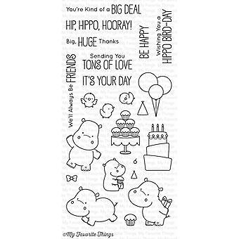Mijn favoriete dingen Happy Hippos Duidelijke Postzegels