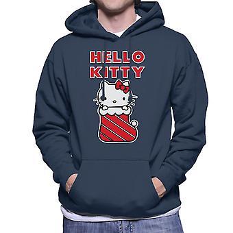 Hello Kitty Joulu sileää Miesten & s Hupullinen Collegepaita