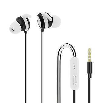 Wired Headphones and Multi-function with  3.5mm Jack Connector - White