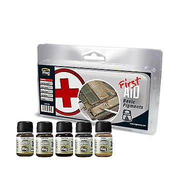 Mig Ammo Weathering Set - First Aid Basic Pigments