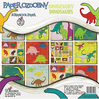 Decorer Dinosaurs 12x12 Inch Paper Pack