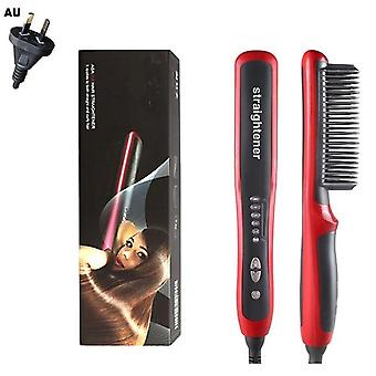 Anti Tatic Ceramic Comb Hair Straightener Pro Lcd Heating Electric Ionic Fast Safe Beard