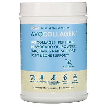RSP Nutrition, AvoCollagen, Collagen Peptides & Avocado Oil Powder, Vanilla Bean