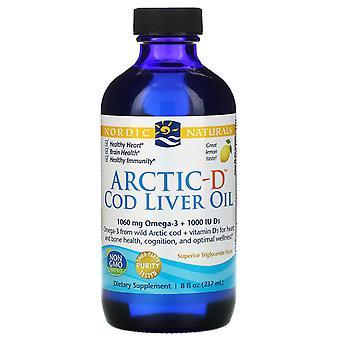 Nordic Naturals, Arctic-D Levertraan, Citroen, 8 fl oz (237 ml)