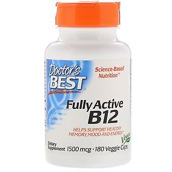 Doctor's Best, Fully Active B12, 1500 mcg, 180 Bonnets végétariens
