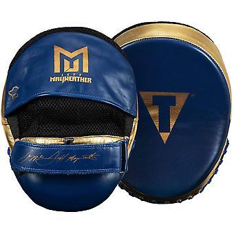 Titel Boxen Jeff Mayweather's Doom Training Punch Mitts - Navy/Gold