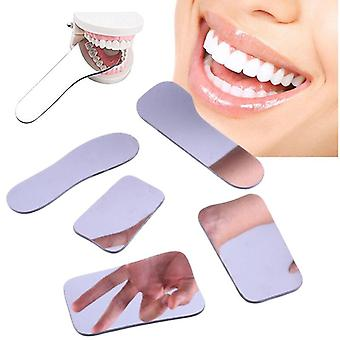 5 kpl /set Dental Double Side Mirrors Orthodontic - Hammasvalokuvaus heijastin