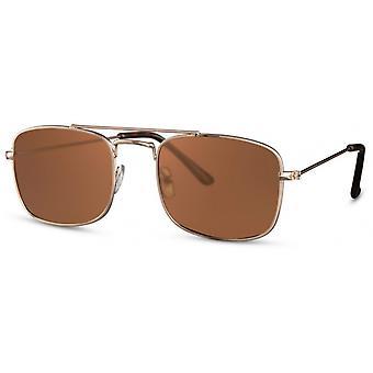 النظارات الشمسية الرجال مستطيلة الرجال كات. 3 الذهب / البني