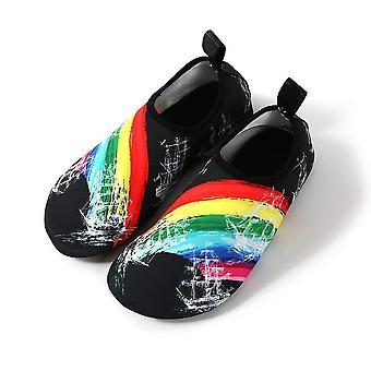 Slip-on Sportschuhe für Wasser und Yoga, Stl 46/47 - Rainbow